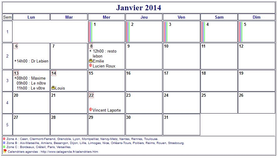 modele planning mensuel 2014