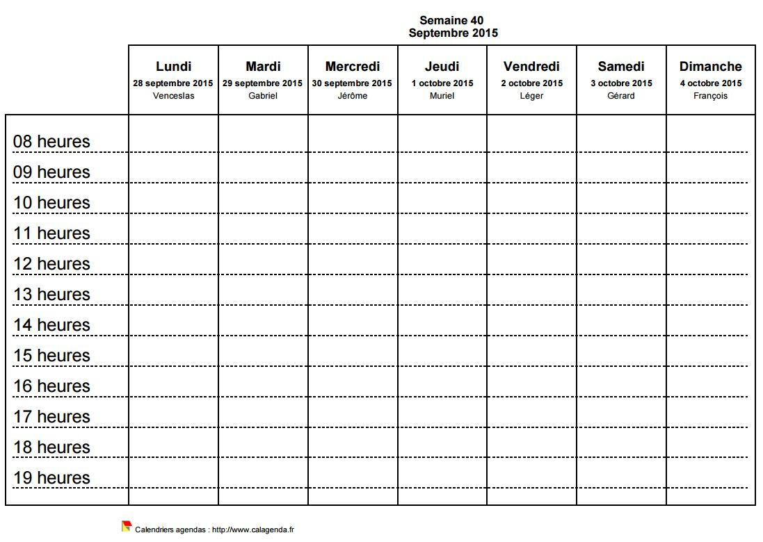 Souvent planning horizontal hebdomadaire TC08