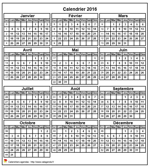 calendrier 2016 format portrait. Black Bedroom Furniture Sets. Home Design Ideas