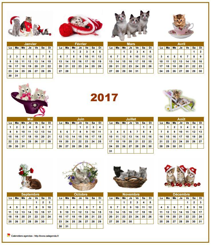 """Résultat de recherche d'images pour """"calendrier octobre chat 2017"""""""