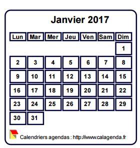 Calendrier Mensuel 2017 A Imprimer Fond Blanc Taille Mini