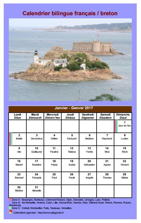 modele planning mensuel francais