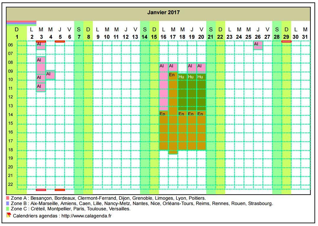 exemple planning horaire de travail