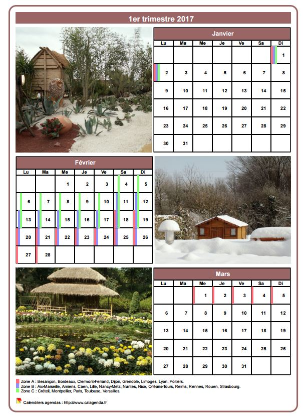 Calendrier 2017 avec photos r sultats aol de la for Calendrier photo mural gratuit
