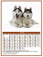 Calendrier d'août 2017 de la série 'chiens'