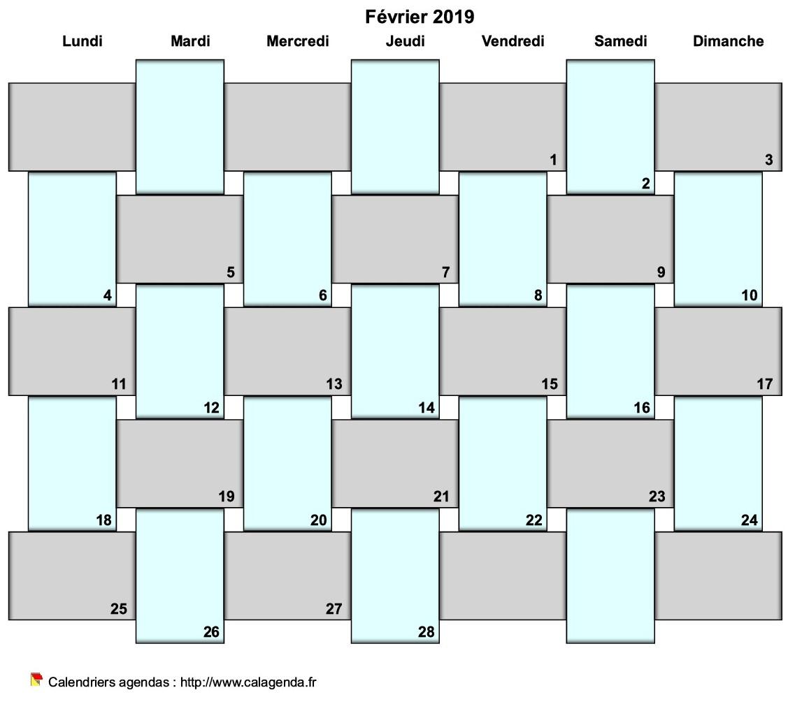 Calendrier 2019 Bullet Journal.Agenda Mensuel 2019 Bullet Journal