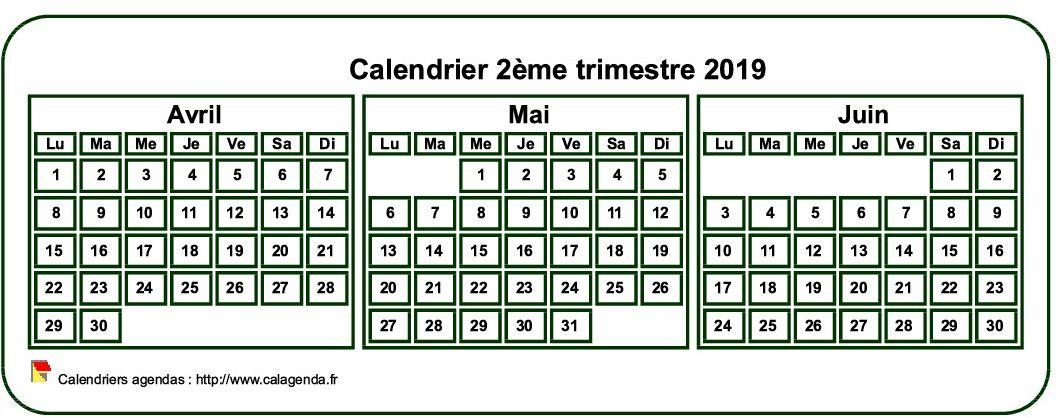 Mini Calendrier 2019 A Imprimer.Calendrier 2019 A Imprimer Trimestriel Format Mini De Poche