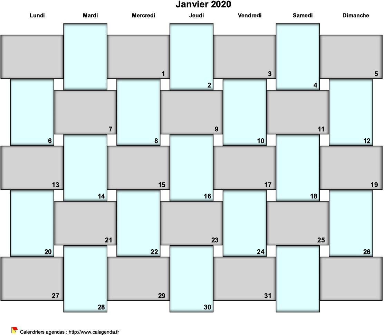 Calendrier 2019 Bullet Journal.Agenda Mensuel 2020 Bullet Journal