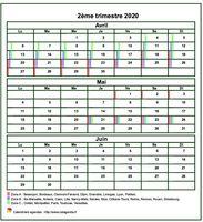 Calendrier 2020 Deuxieme Semestre.Calendrier 2020 Trimestriel Gratuit Et Personnalisable