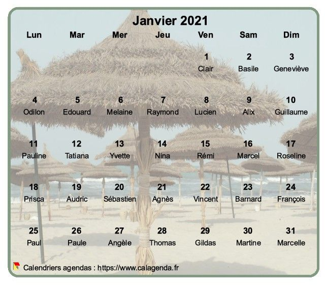 Calendrier mensuel 2021 à imprimer, en transparence sur une photo