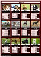Calendrier 2021 de la série 'chiens', gratuit et personnalisable