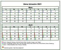 Calendrier 2021 bimestriel gratuit à personnaliser