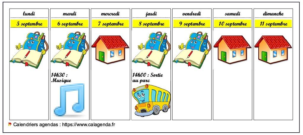 Calendrier De Laprès 2022 Calendrier 2022 hebdomadaire pour les écoles maternelles