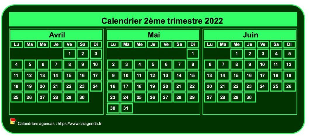 Mini Calendrier 2022 à Imprimer Calendrier 2022 à imprimer trimestriel, format mini de poche, fond
