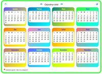 Calendrier 2022 En Couleur à Imprimer Calendrier 2022 annuel gratuit, à imprimer tel quel ou à personnaliser