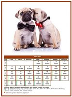 Calendrier d'avril 1920 chiens
