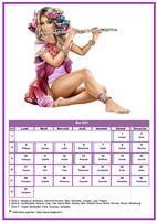 Calendrier tubes femmes du mois de mai