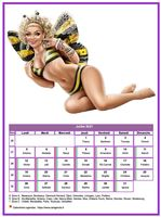 Calendrier tubes femmes du mois de juillet