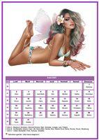 Calendrier tubes femmes du mois d'août