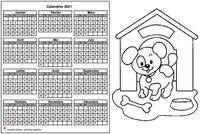 Calendrier 2015 annuel à colorier