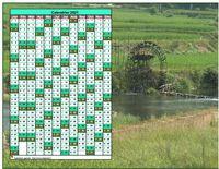 Calendrier annuel à imprimer, format paysage, une colonne par mois