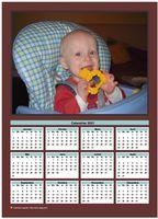 Calendrier annuel avec photo de famille