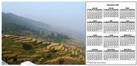 Calendrier annuel � imprimer, format paysage, avec photo � gauche