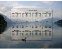 Calendrier annuel � imprimer, format paysage, 4 colonnes 3 lignes, incrust� au milieu de la photo