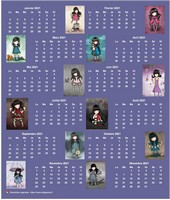 Calendrier 2014 annuel poupées Gorjuss