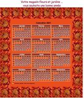 Calendrier photo annuel à imprimer, format variable, 3 colonnes, une ligne par trimestre.