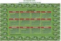 Calendrier photo annuel à imprimer, format variable, 4 colonnes, 3 lignes
