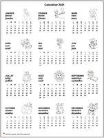 Calendrier annuel 2019 spécial écoles maternelles et primaires