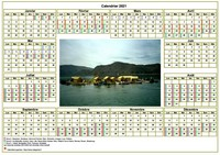 Calendrier 2015 agenda annuel avec photo, format paysage