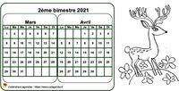 Calendrier 2014 bimestriel à colorier
