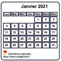 Exemples de calendriers mensuels gratuits