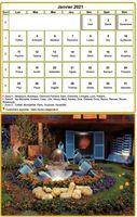 Calendrier mensuel � imprimer avec photographie au dessous