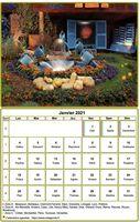Calendrier mensuel à imprimer avec photographie au dessus