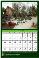 Calendrier mensuel avec une photo différente chaque mois