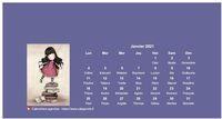 Calendrier 2014 mensuel poupées Gorjuss