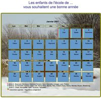 Calendrier 2014 mensuel, avec photo, paysage hivernal