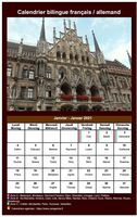 Calendrier mensuel allemand