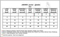 Calendrier 2013 école primaire et maternelle