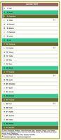 Calendrier mensuel, modèle par défaut, format colonne