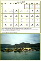 Calendrier mensuel, mod�le par d�faut, format tableau
