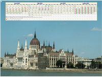 Calendrier à imprimer de quatre mois, format paysage, une colonne par mois,à droite d'une photo