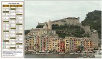 Calendrier � imprimer trimestriel, format paysage, � gauche d'une photo