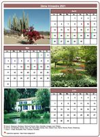 Calendrier trimestriel avec une photo différente chaque mois