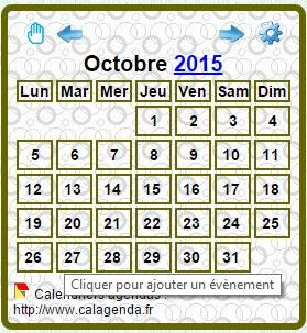 Affichage minimaliste du calendrier